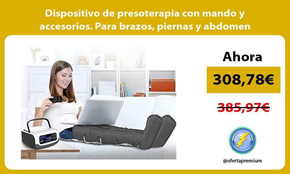 Dispositivo de presoterapia con mando y accesorios Para brazos piernas y abdomen