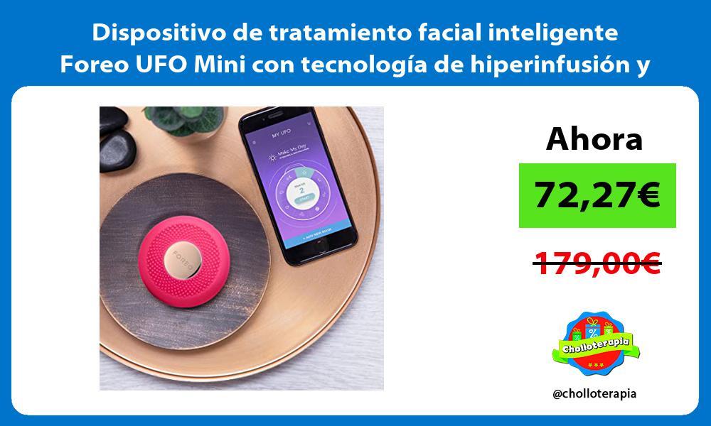 Dispositivo de tratamiento facial inteligente Foreo UFO Mini con tecnología de hiperinfusión y LED
