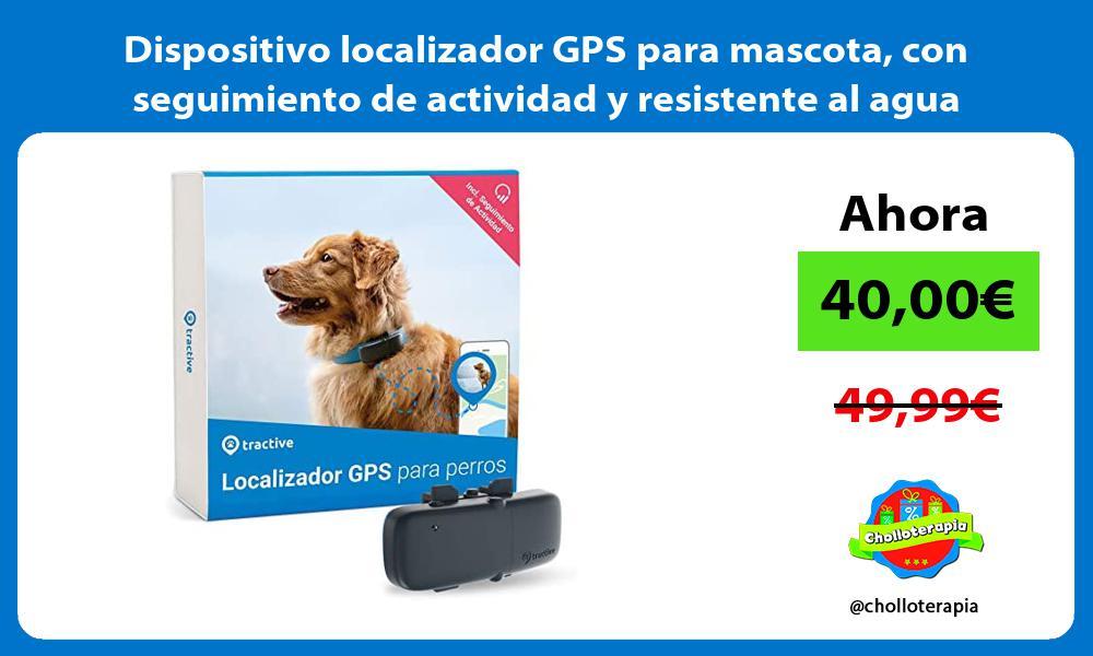 Dispositivo localizador GPS para mascota con seguimiento de actividad y resistente al agua