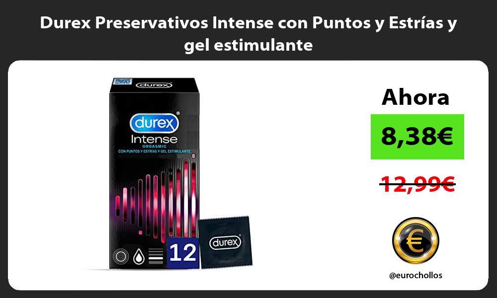 Durex Preservativos Intense con Puntos y Estrías y gel estimulante
