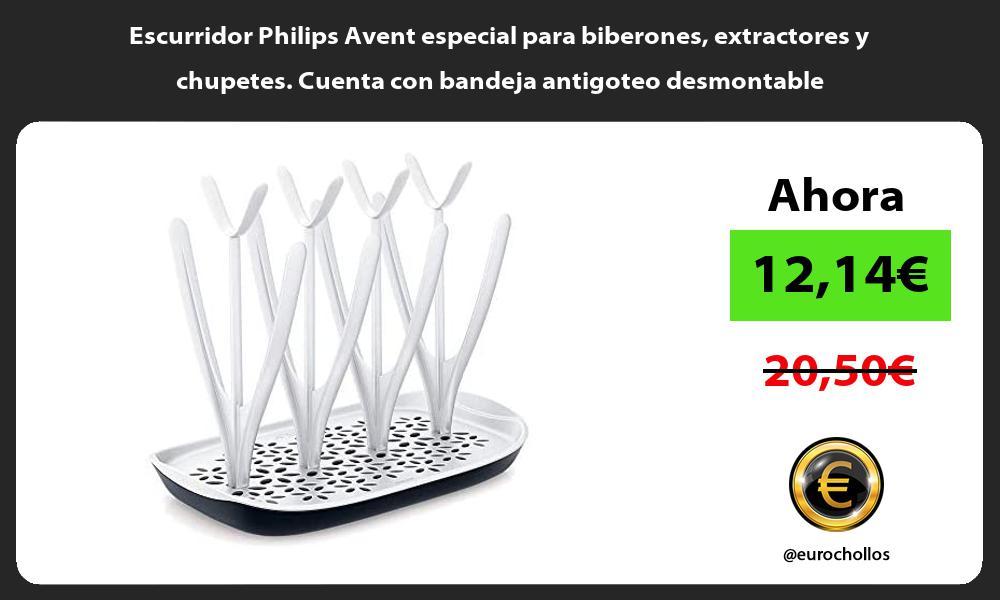 Escurridor Philips Avent especial para biberones extractores y chupetes Cuenta con bandeja antigoteo desmontable