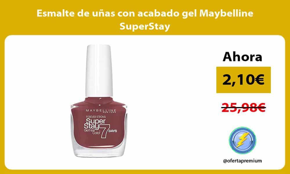 Esmalte de uñas con acabado gel Maybelline SuperStay