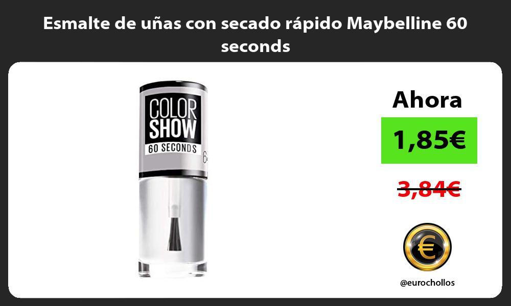 Esmalte de uñas con secado rápido Maybelline 60 seconds