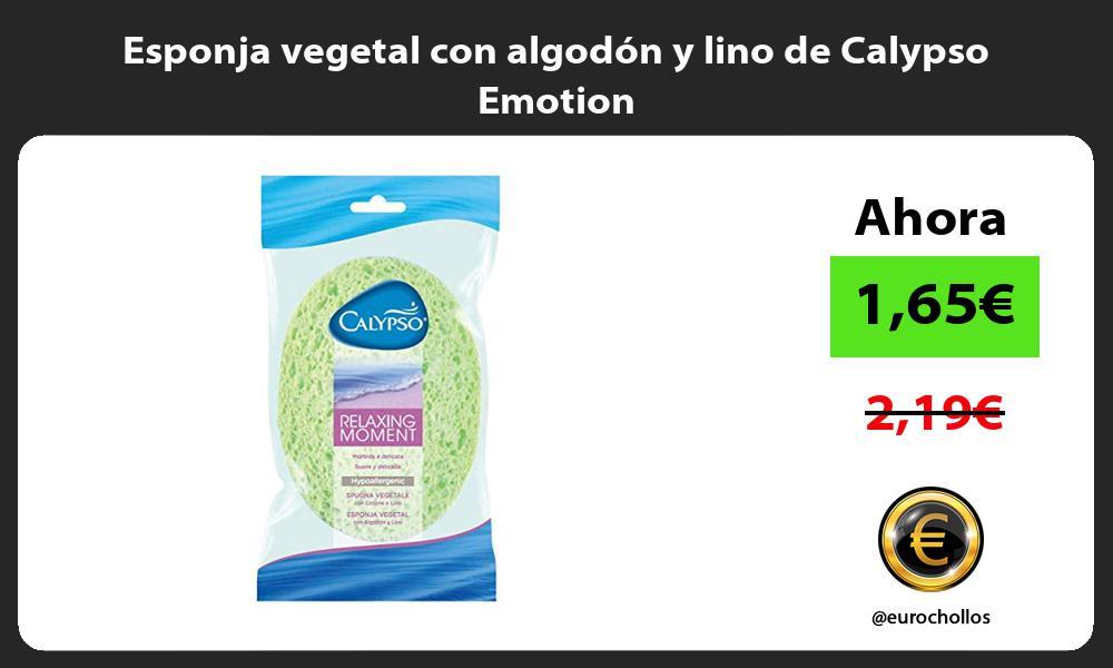 Esponja vegetal con algodón y lino de Calypso Emotion