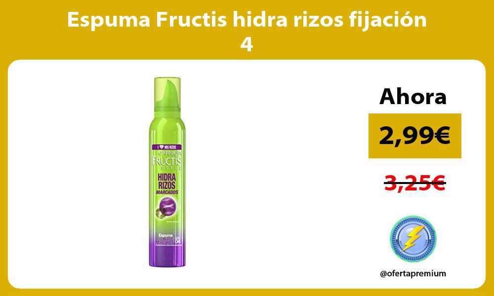 Espuma Fructis hidra rizos fijación 4
