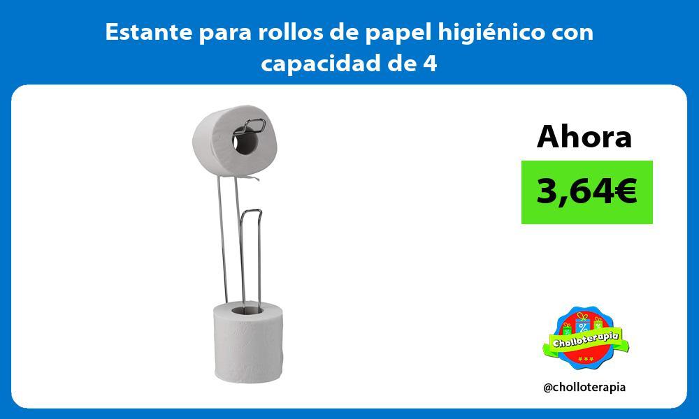 Estante para rollos de papel higiénico con capacidad de 4