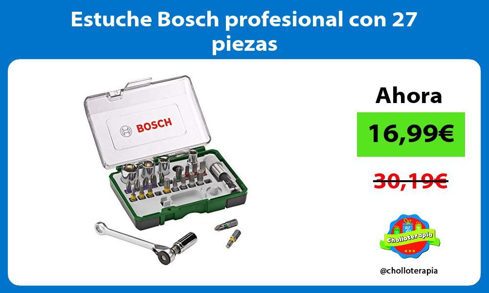 Estuche Bosch profesional con 27 piezas