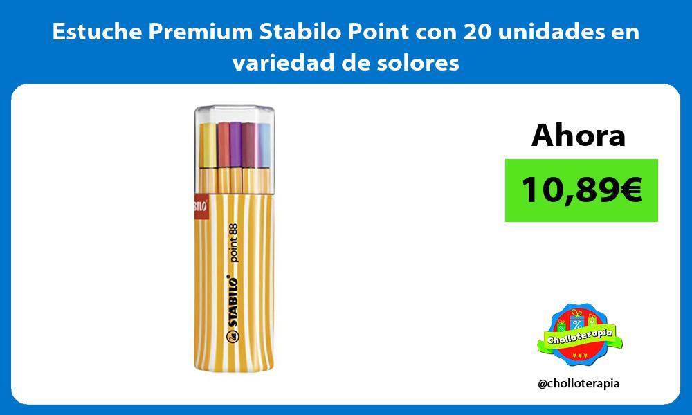 Estuche Premium Stabilo Point con 20 unidades en variedad de solores