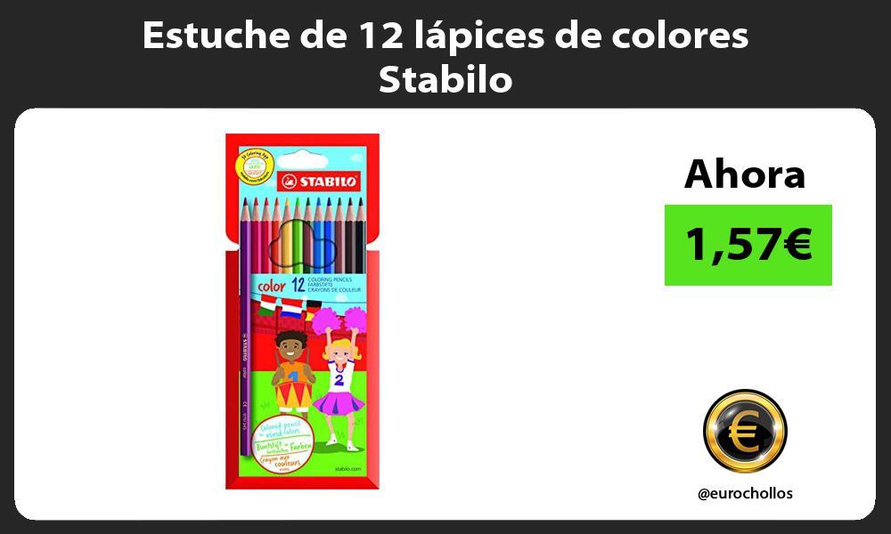 Estuche de 12 lápices de colores Stabilo