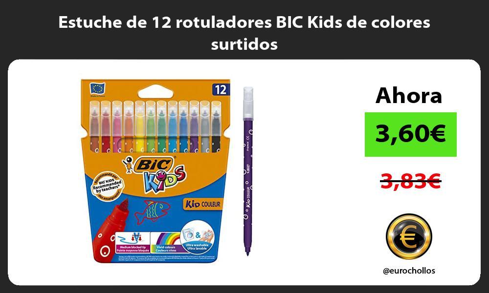 Estuche de 12 rotuladores BIC Kids de colores surtidos