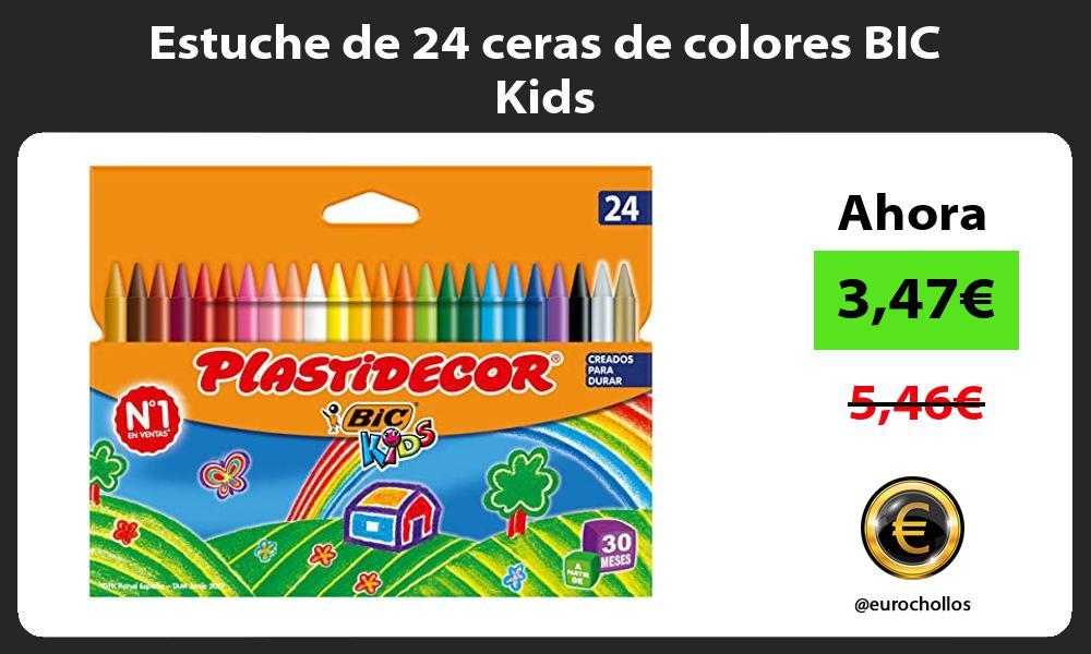 Estuche de 24 ceras de colores BIC Kids