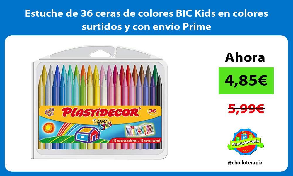 Estuche de 36 ceras de colores BIC Kids en colores surtidos y con envío Prime