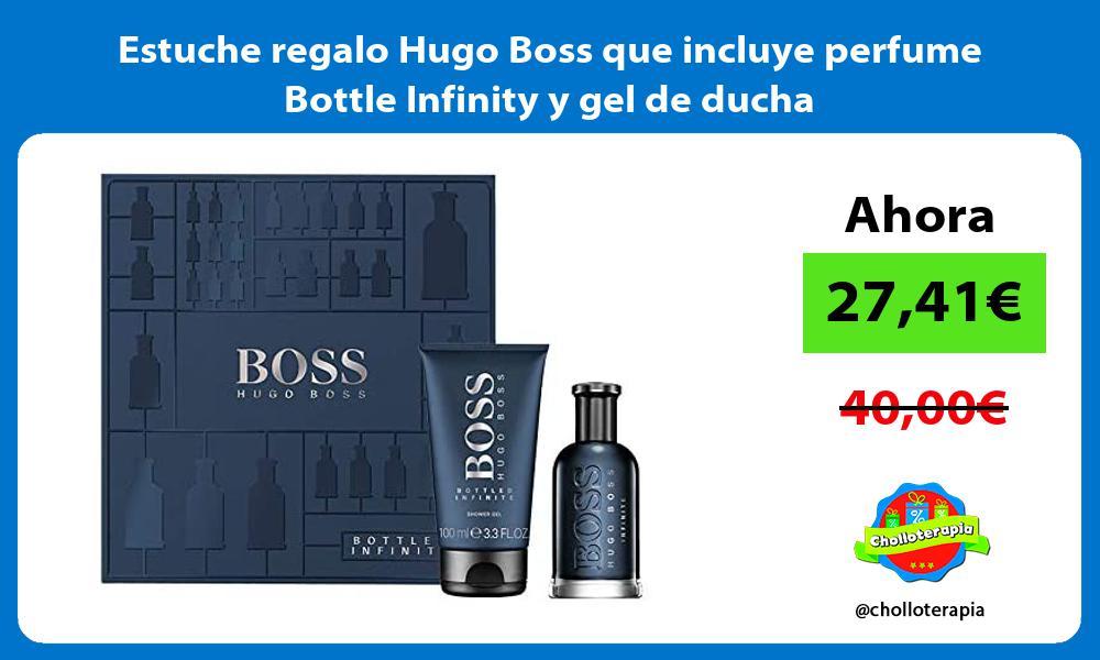Estuche regalo Hugo Boss que incluye perfume Bottle Infinity y gel de ducha