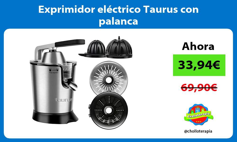 Exprimidor eléctrico Taurus con palanca