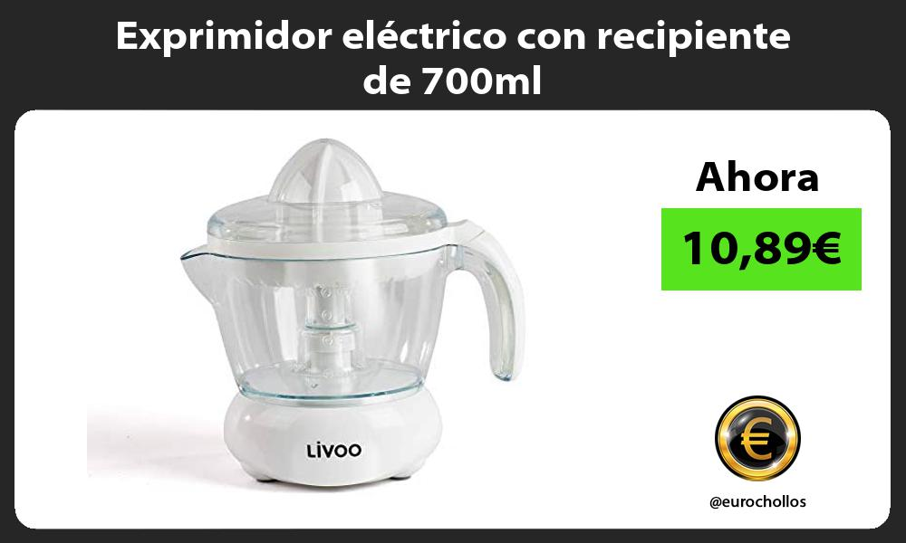 Exprimidor eléctrico con recipiente de 700ml