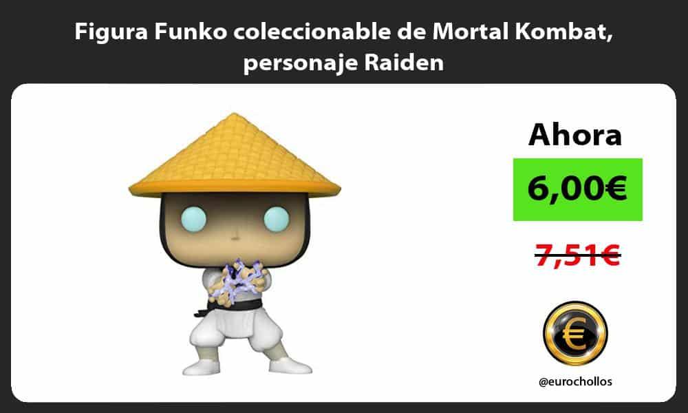 Figura Funko coleccionable de Mortal Kombat personaje Raiden