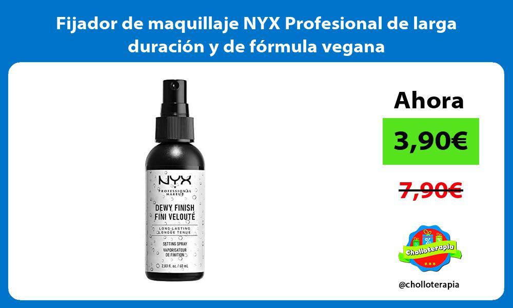 Fijador de maquillaje NYX Profesional de larga duración y de fórmula vegana