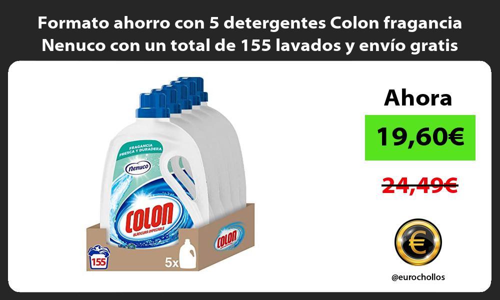 Formato ahorro con 5 detergentes Colon fragancia Nenuco con un total de 155 lavados y envío gratis