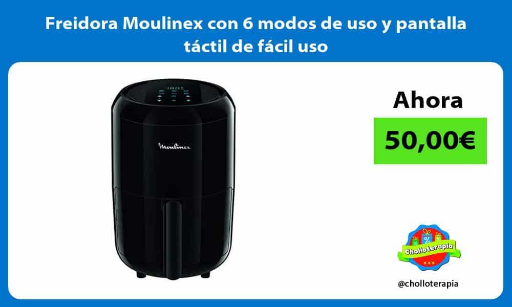 Freidora Moulinex con 6 modos de uso y pantalla táctil de fácil uso