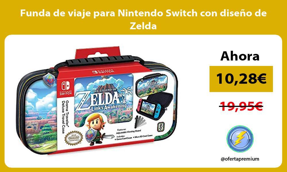 Funda de viaje para Nintendo Switch con diseño de Zelda