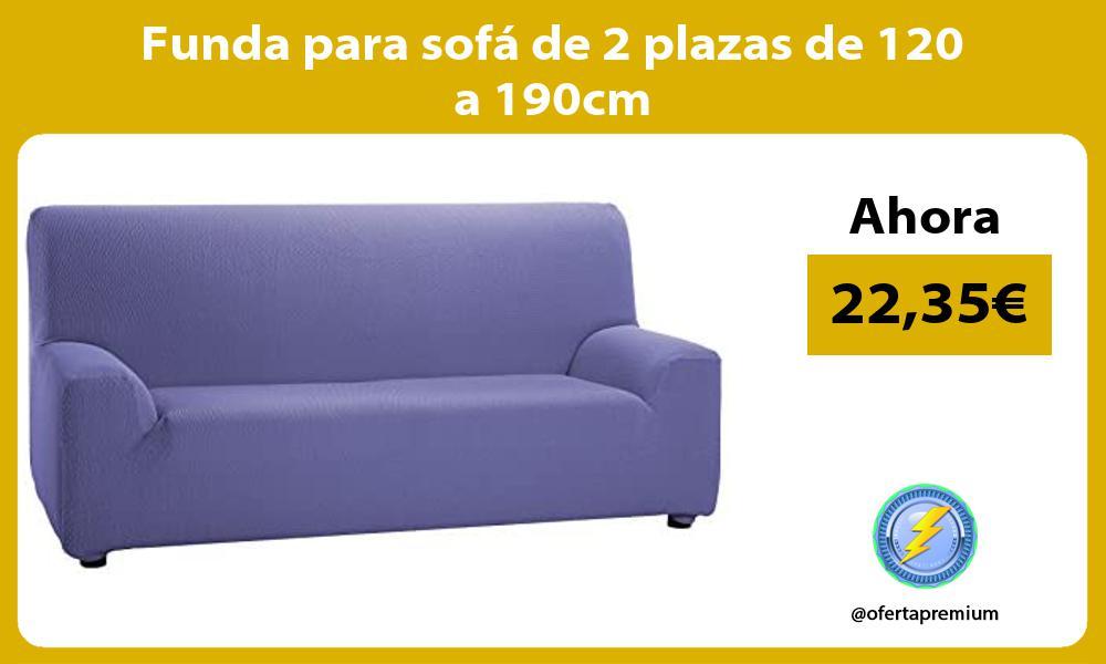 Funda para sofá de 2 plazas de 120 a 190cm