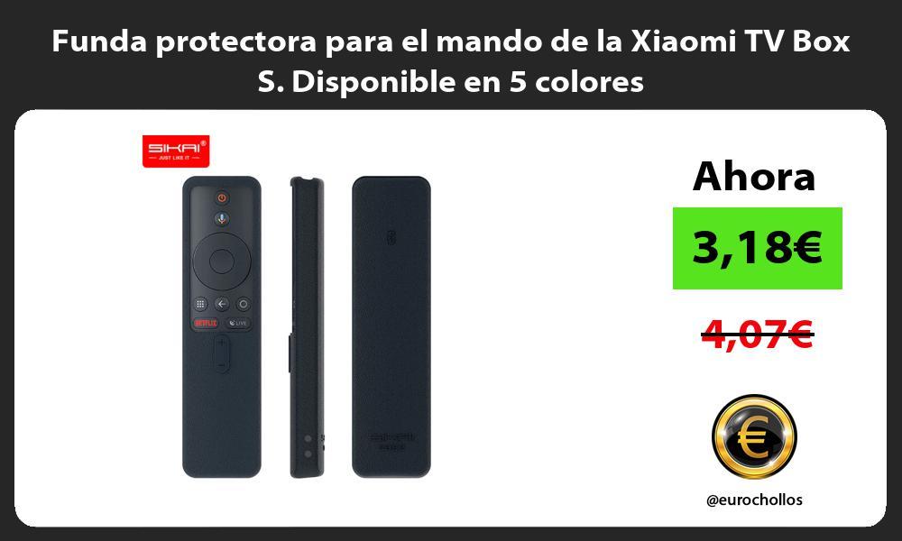 Funda protectora para el mando de la Xiaomi TV Box S Disponible en 5 colores