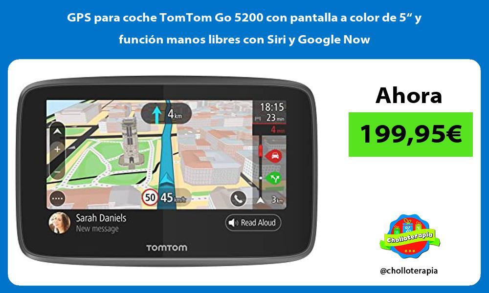 """GPS para coche TomTom Go 5200 con pantalla a color de 5"""" y función manos libres con Siri y Google Now"""