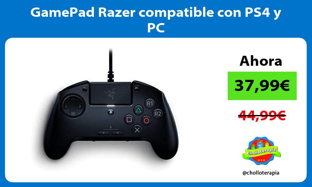 GamePad Razer compatible con PS4 y PC