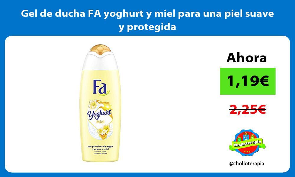Gel de ducha FA yoghurt y miel para una piel suave y protegida