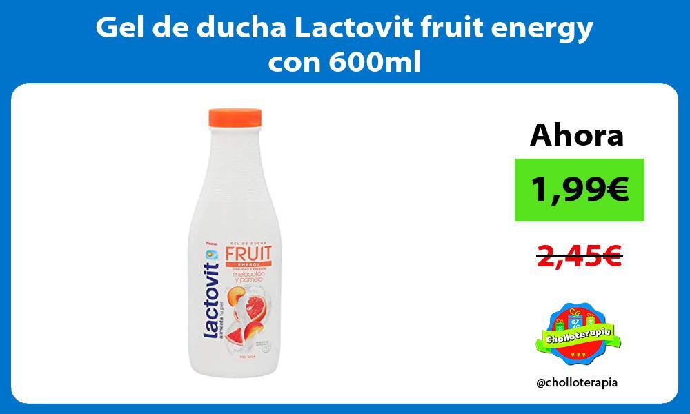 Gel de ducha Lactovit fruit energy con 600ml
