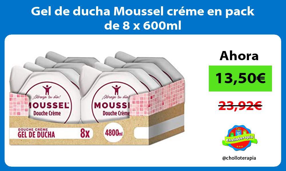 Gel de ducha Moussel créme en pack de 8 x 600ml