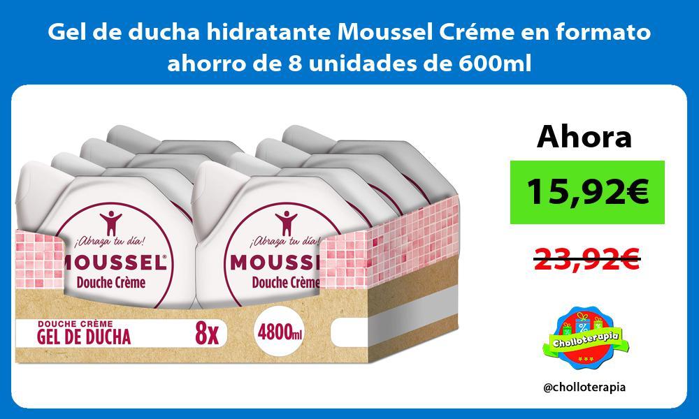 Gel de ducha hidratante Moussel Créme en formato ahorro de 8 unidades de 600ml
