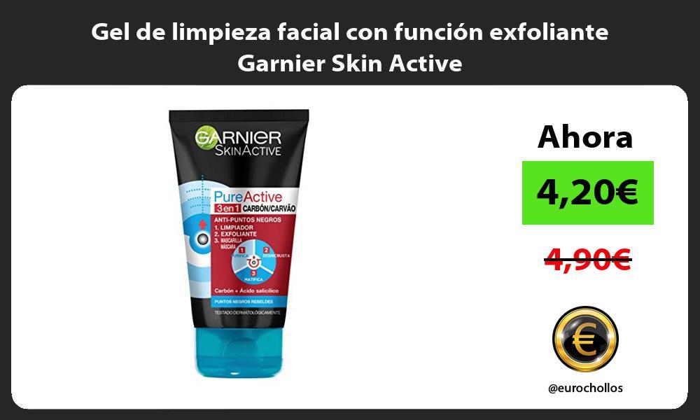 Gel de limpieza facial con función exfoliante Garnier Skin Active