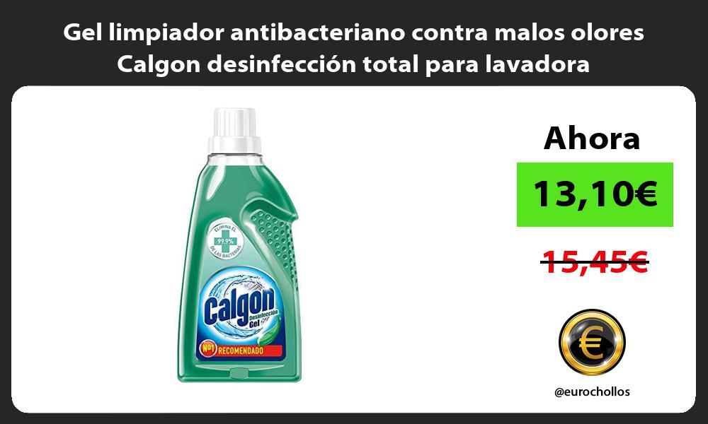 Gel limpiador antibacteriano contra malos olores Calgon desinfección total para lavadora