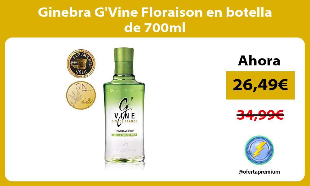 Ginebra GVine Floraison en botella de 700ml