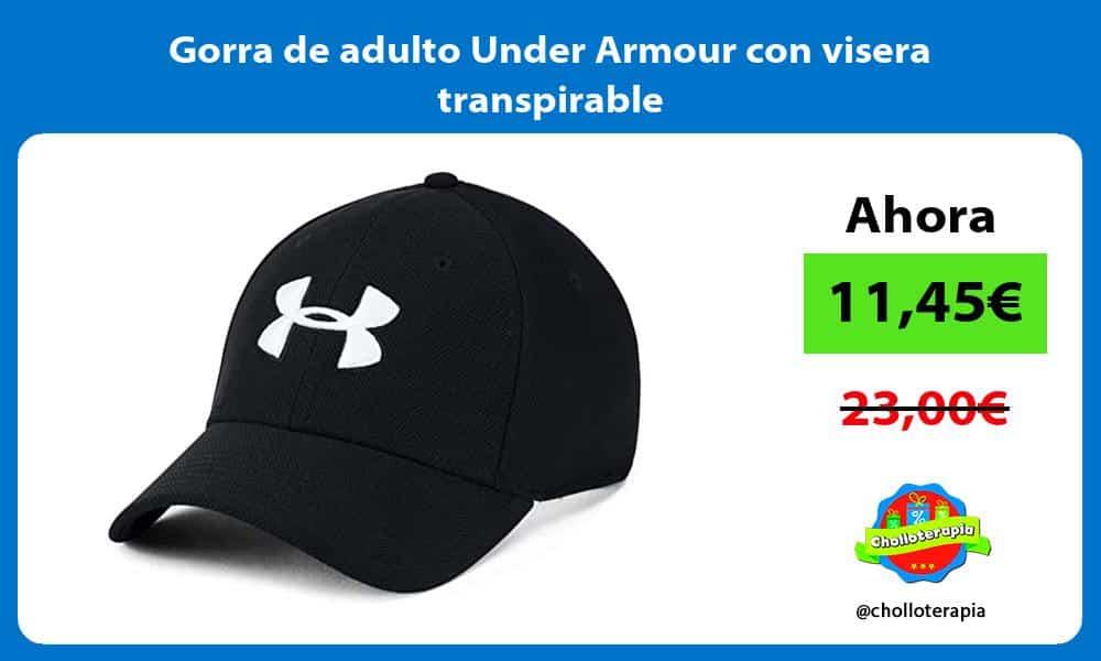 Gorra de adulto Under Armour con visera transpirable