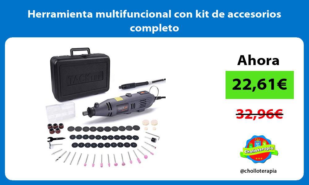 Herramienta multifuncional con kit de accesorios completo