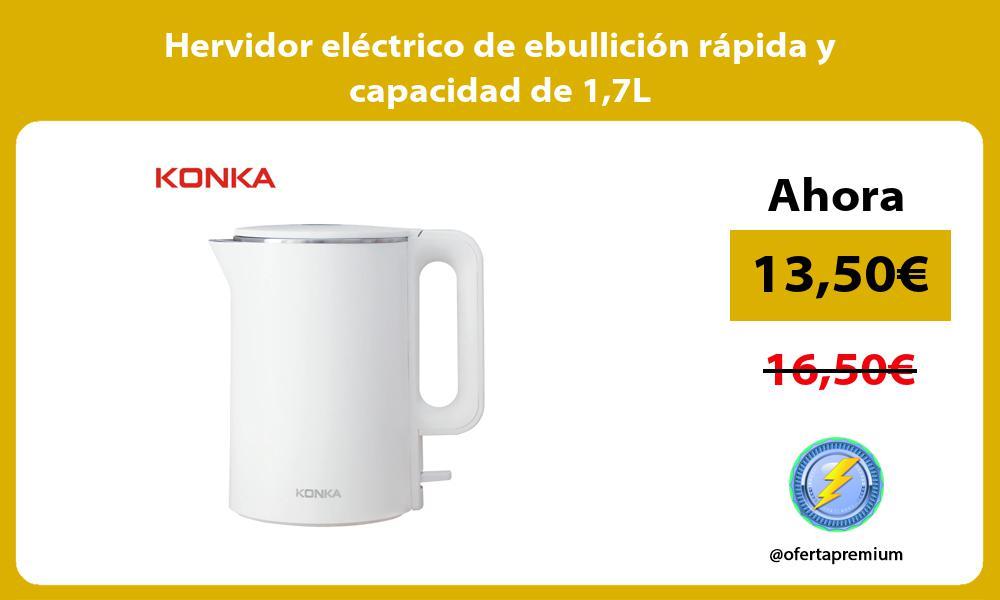 Hervidor eléctrico de ebullición rápida y capacidad de 17L