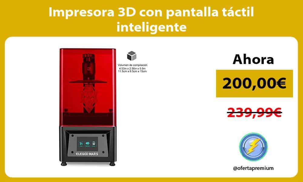 Impresora 3D con pantalla táctil inteligente