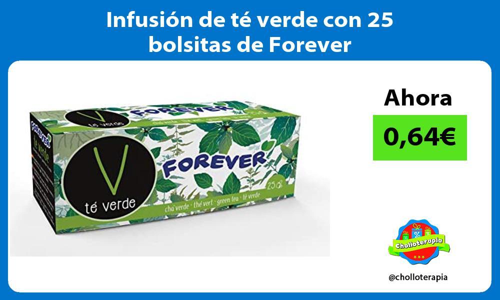 Infusión de té verde con 25 bolsitas de Forever