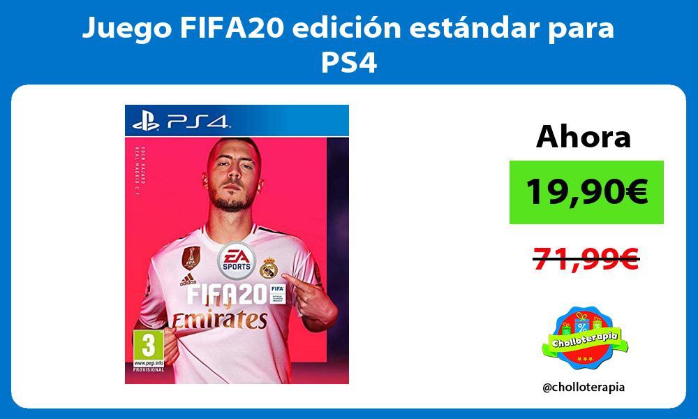 Juego FIFA20 edición estándar para PS4