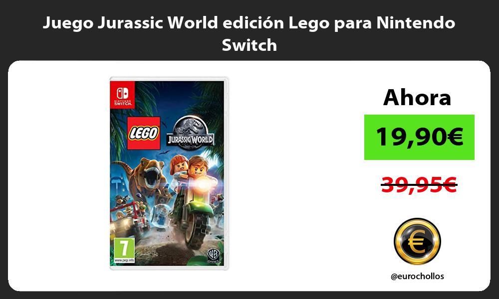 Juego Jurassic World edición Lego para Nintendo Switch