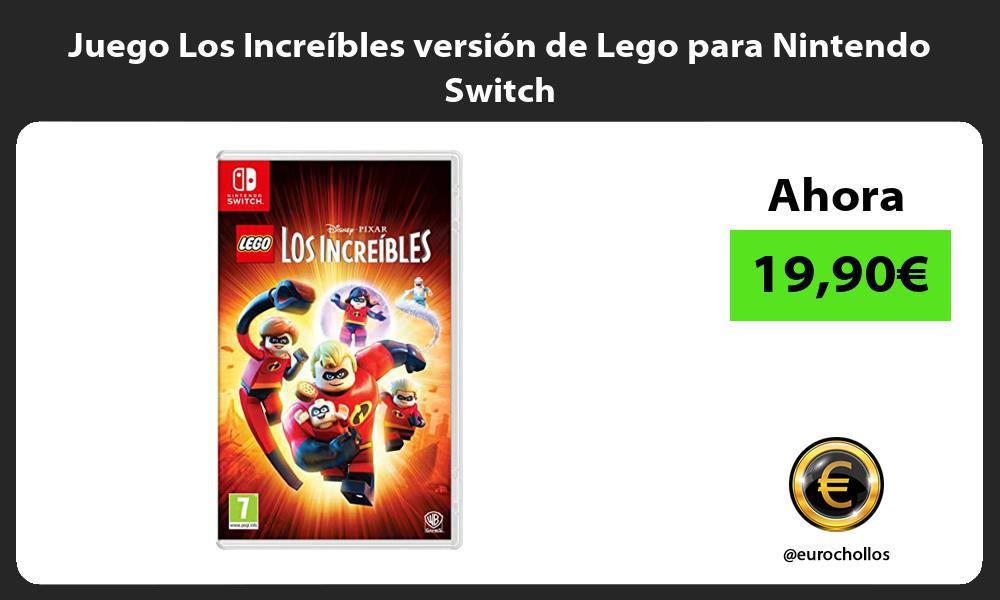 Juego Los Increíbles versión de Lego para Nintendo Switch