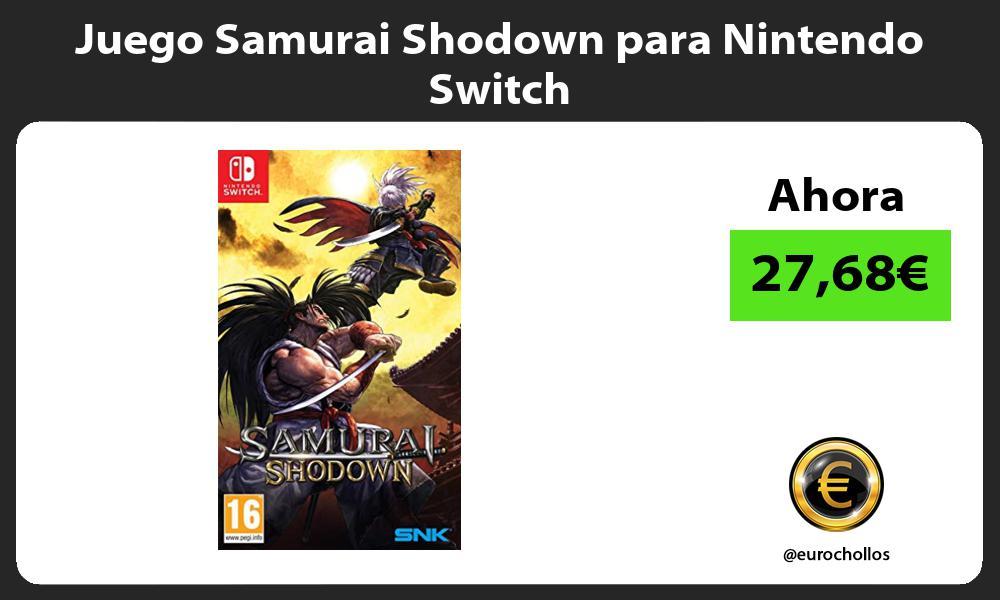 Juego Samurai Shodown para Nintendo Switch