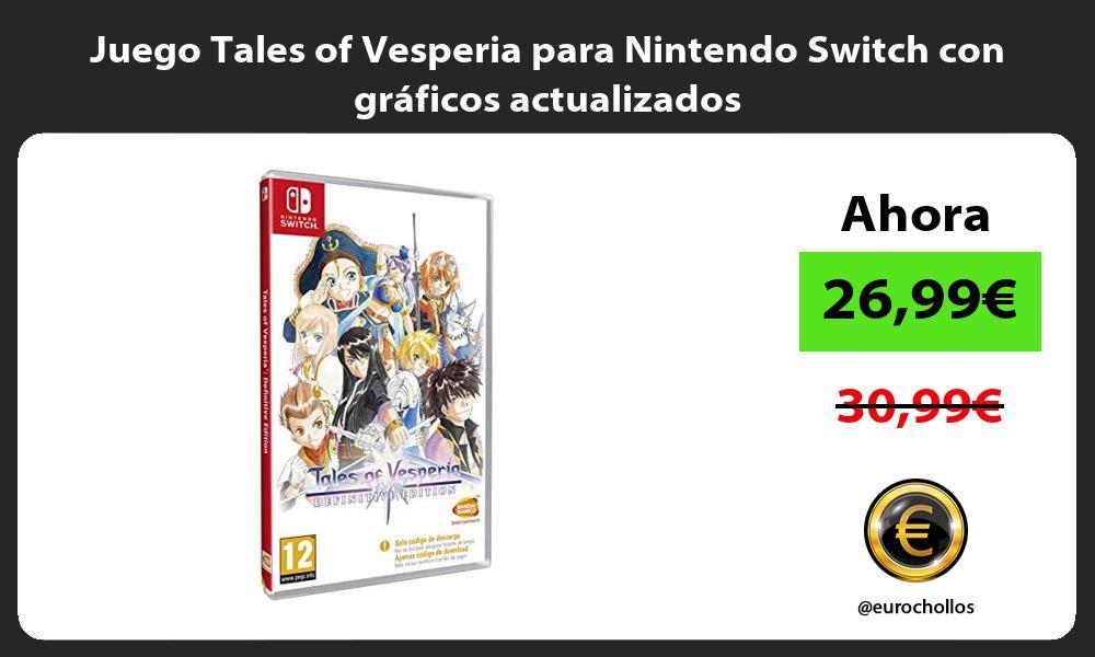 Juego Tales of Vesperia para Nintendo Switch con gráficos actualizados