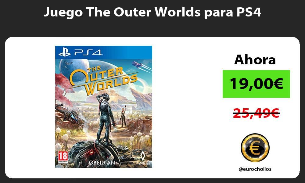 Juego The Outer Worlds para PS4