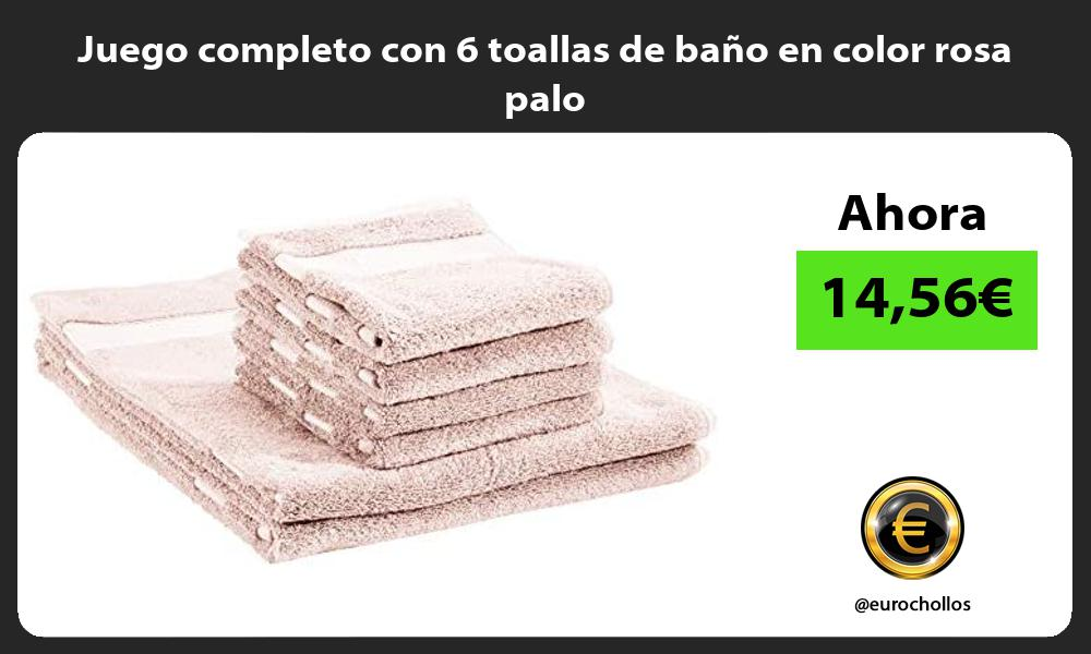 Juego completo con 6 toallas de baño en color rosa palo