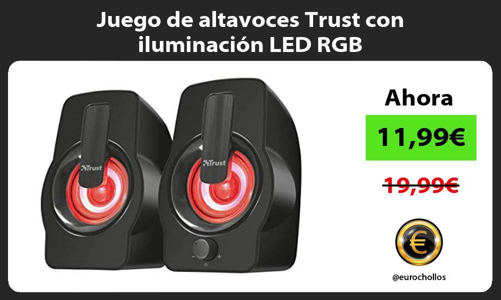 Juego de altavoces Trust con iluminación LED RGB