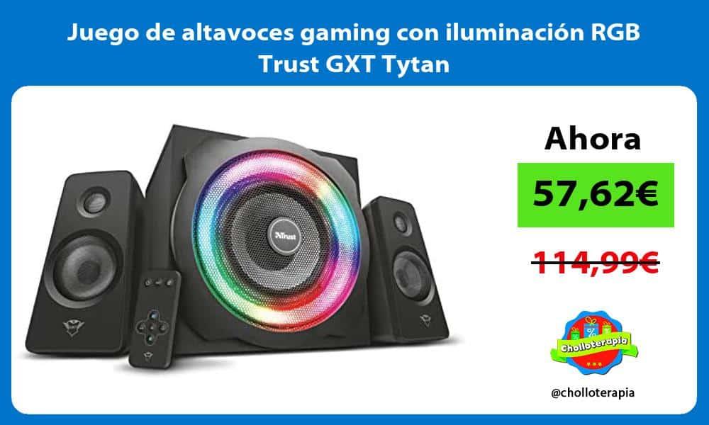 Juego de altavoces gaming con iluminación RGB Trust GXT Tytan