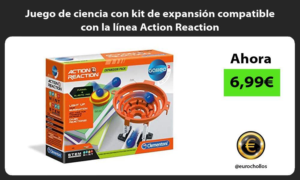 Juego de ciencia con kit de expansión compatible con la línea Action Reaction